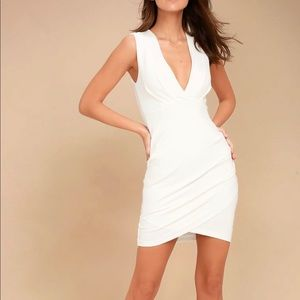 Cocktail Hour Ivory Wrap Dress - White